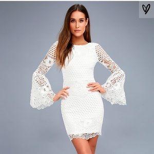 New Lulu's Angelia's Lace Bell sleeve Dress